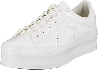 Converse One Star Womens Vintage White Platform Ox Trainers