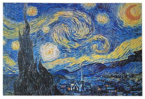 1000 Pieces Jigsaw Puzzles for Adults Kids, Starry Sky by Vincent Van Gogh Jigsaw