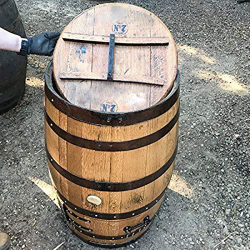 Cheeky Chicks Ltd Riciclato Robusto Quercia Whisky di Marca Jack Daniel' s Barrel Antracite Store.