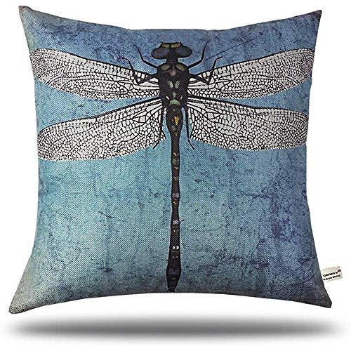 njia Fashion Vintage Dragonfly Stijl Print Kussensloop Sofa Taille Kussen Cover Home Decor Gift voor Vrienden