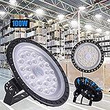 LED Industrielampe UFO, 100W LED Hallenleuchte Industrial Hallenbeleuchtung Werkstattbeleuchtung Kronleuchter, Abstrahlwinkel 120° 6000-6500K, [Energieklasse A++] (1 Stück, 100W)