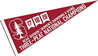College Flags and Banners Co. Stanford Cardinal Three-Peat National Swimming Champions Pennant