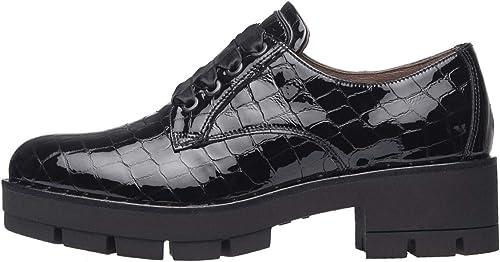 Nero giardini scarpe stringate da donna in pelle A909783D 100