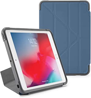 PIPETTO Origami Shield iPad case Mini 5 (2019) / Mini 4 | Rugged Shockproof with 5 in 1 Stand and auto Sleep Wake Function Navy