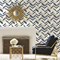 RoomMates RMK9004WP Chevron Stripe Peel and Stick Wallpaper