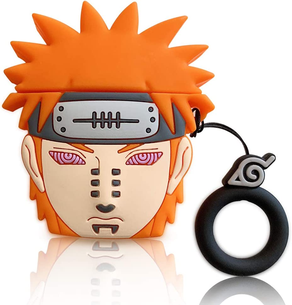 Compatible for Naruto Pain Airpods Pro Case Cover, Naruto Payne Airpods pro Charging Case Keychain Bag Pendant Decor Cute 3D Cartoon Toy (Payne)