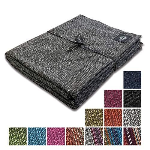 Craft Story Decke Yara I Uni grau aus 100% Baumwolle I Tagesdecke I Sofa-Decke I Überwurf I Bedspread I Plaid I Picknickdecke I Läufer I 170 x 220cm