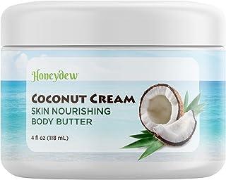 Coconut Oil Body Butter for Stretchmarks & Scars - Natural Skin Care for Women & Men - Anti Ageing Cream Moisturiser for D...
