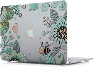 MacBook Air 13 Inch Hard Case - L2W Plastic Laptop Accessories Sleeves Protective Pattern Printing Design Cover For Apple MacBook Air 13 Inch Model A1466/A1369,Bee