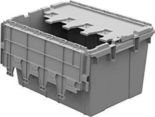 Buckhorn AC2115120201000 Industrial Grade Plastic Attached Lid Flip TOP 12 gallon Container Tote - 21