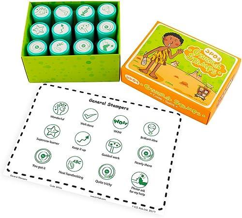 alta calidad C.S. Set de 12 sellos para Niños Niños Niños  Envío 100% gratuito