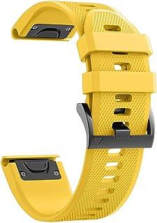 Smart Watch Strap Silicone Quick Release Band Replacement for Smart Watch Garmin Fenix 5X/Fenix 5X Plus/Fenix 6X/Fenix 6X ...