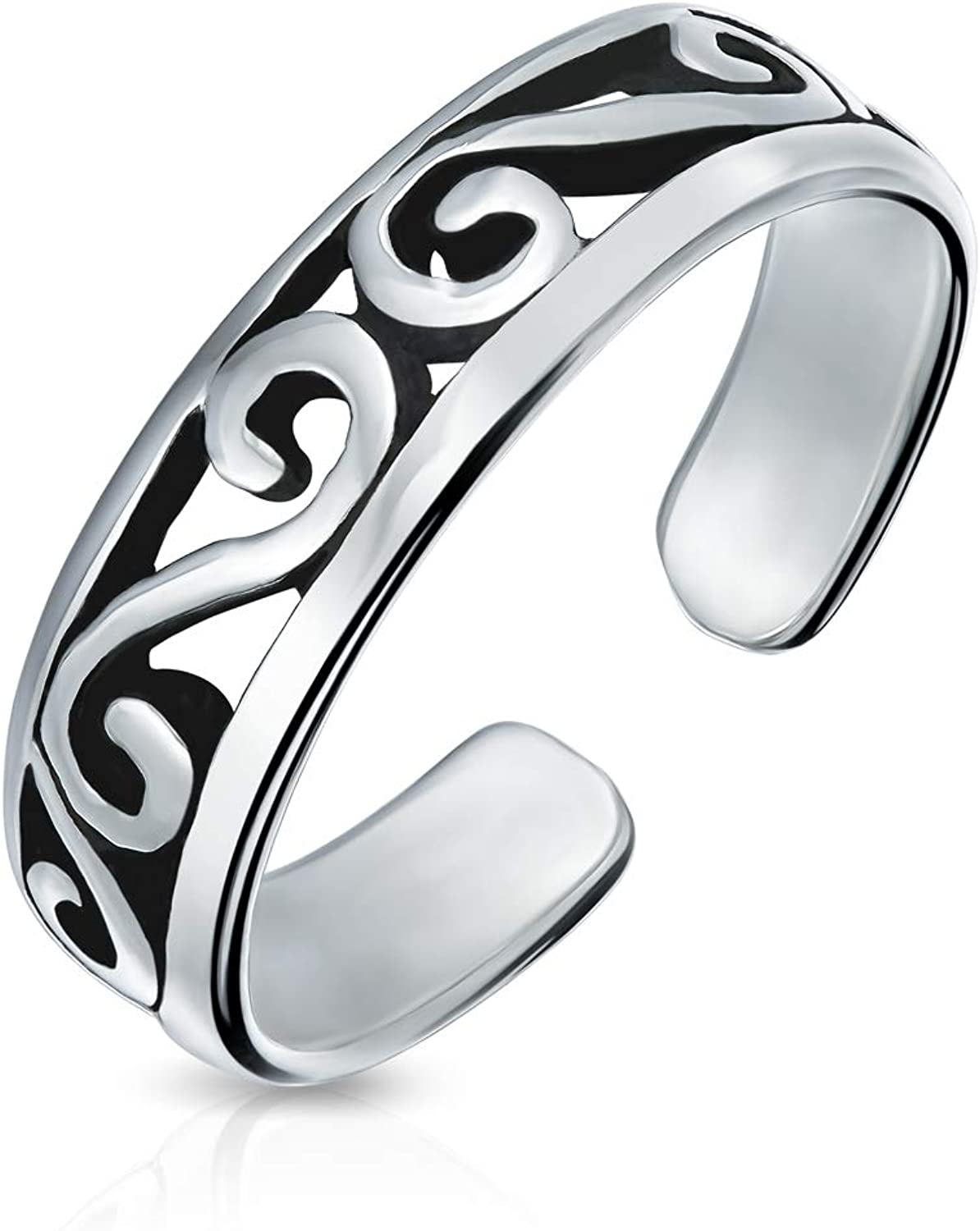 Cut-Out Celtic Swirl Filigree Thin Midi Band Tulsa Mall For 2021 autumn and winter new Toe Ring Women