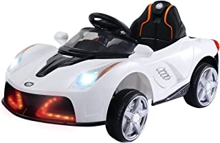 Costzon Kids Ride On Car, 12V Battery Powered Vehicle, Parental RC Remote Control & Manual Modes w/ LED Lights, Horn, Music, MP3, Open Doors, High/ Low Speed, White