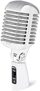 Pyle PDMICR42SL Classic Retro Vintage Style Dynamic Vocal Microphone with 16ft X