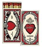 HomArt Scared Heart Large Decorative Matches Set Of 3 matchboxes