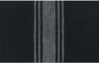 Moda Urban Cottage Black Grey Stripe 16 Inch Cotton Toweling