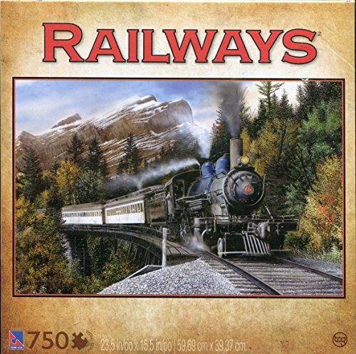 Railways Mountain Pass 750-Piece Jigsaw Puzzle