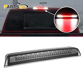 Partsam High Mount Stop Lights Led Third 3rd Brake Light Smoked Replacement for Nissan Titan 2004-2015 and Nissan Frontier 2005-2016 Rear Top Roof Cab Stop Cargo Center Light Lamps Chrome Housing