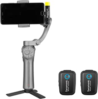 2.4GHz Wireless Microphone System Two Transmitters for iOS Devices, Saramonic Ultracompact Dual-Channel Mic for iPhone 11,...