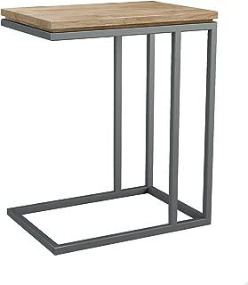 ASTA Teak and Iron C-Shape Side Table - Simplicity, TI-361