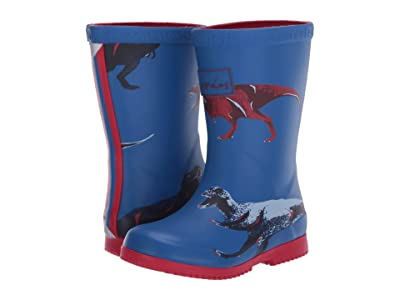 Joules Kids Roll Up Welly (Toddler/Little Kid/Big Kid) (Blue Dinos) Girl