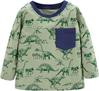 Ainuno Boys Girls Long Sleeve Shirts 2-7 Years Old,100% Cotton Clothes 2t 3t 4t 5t 6-7
