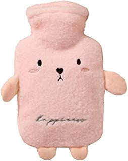 LLQUS 1L PVC Hot Water Bottle with Cover, Animal Hand Warmers Hot Water Bag, Non-Slip