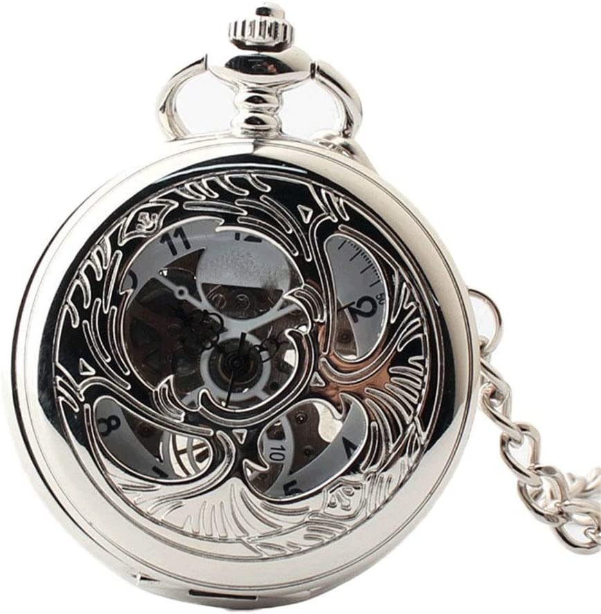 XJJZS Classic Smooth Max 47% Quantity limited OFF Surface Mechanical Chain Watch Pocket with