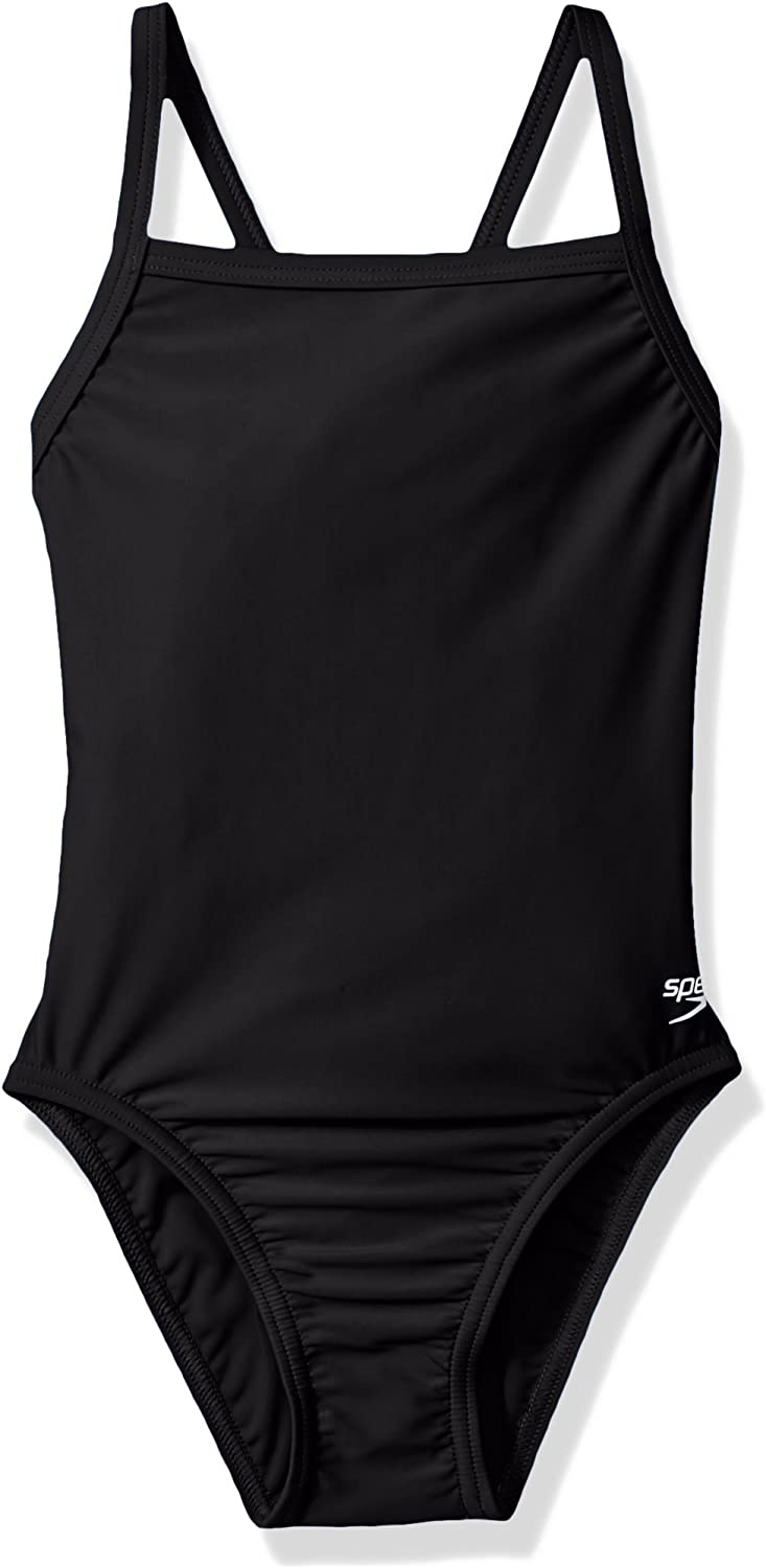 Speedo Youth Solid Powerflex Flyback Swimsuit