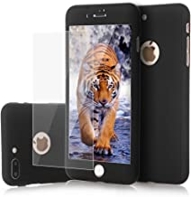 iPhone 8 plus Case, iPhone 7 plus Case, KMISS 2 in 1 Ultra Thin Full Body Protection Hard Premium Luxury Cover [Slim Fit] Shock Absorption Skid-proof PC case for Apple iPhone 7/8 Plus (Black)