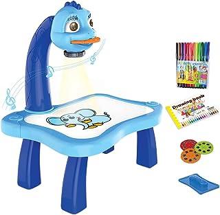 LYEAA Tekenprojectortafel voor kinderen, kind slimme projector schetsbureau, traceren en tekenen projectorspeelgoed met li...