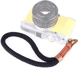 EANDE Vintage Cotton Soft Hand Strap Grip Wrist Strap for DSLR SLR Cameras Black Durable  Color Black