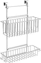WENKO Hangmand Flexi, organizer om op te hangen aan lade en kastdeur, geschikt voor badkamer en keuken, zonder boren, 2 et...