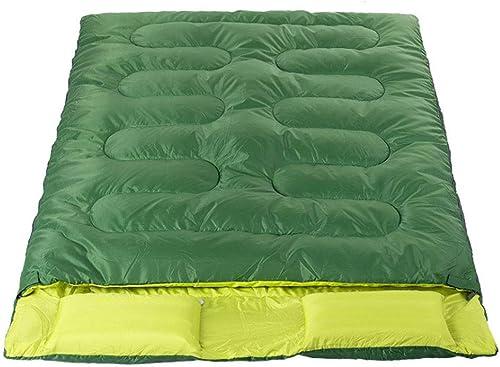 DGB Sac De Couchage en Coton à Double Camping Extérieur pour Adultes, Quatre Saisons, Lavable avec Sac