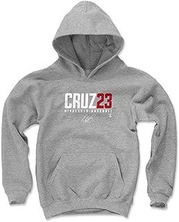 500 LEVEL Nelson Cruz Minnesota Baseball Kids Hoodie - Nelson Cruz Elite
