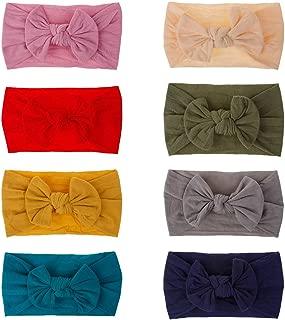 Baby Girl Nylon Headbands Newborn Infant Toddler Bow Hairbands Children Soft Headwrap Hair Accessories