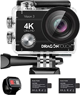 Dragon Touch 4K Action Camera 16MP Sony Sensor Vision 3 Underwater Waterproof Camera 170° Wide Angle WiFi Sports Cam with ...