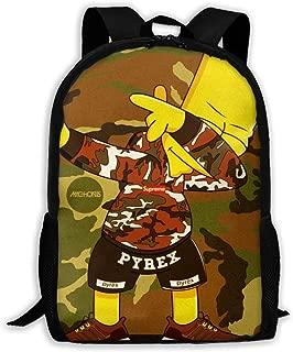 Cool Bart Simpson Bag Backpack Full-print Backpack Children's Backpack Backpack Fashion Backpack Stylish Sturdy Durable Comfortable