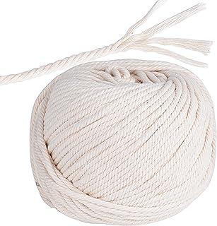 60m*5mm Cuerda Cordón Hilos Algodón Macramé para Manualidades Colgante de Pared Colgador de Plantas
