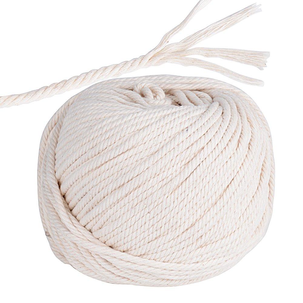 95m Cuerda Cordel de Algodón Hilo Macramé, 4 mm de diámetro, para Envolver Regalo Navidad, Colgar Fotos, Manualidades, Costura, DIY Artesanía: Amazon.es: Hogar