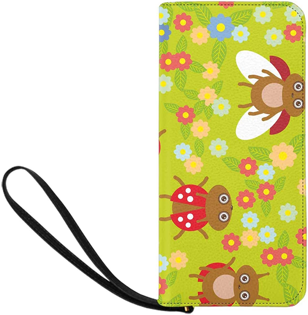 INTERESTPRINT Funny Insects Ladybugs Clutch Purse for Women Evening Party
