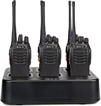 Retevis H-777 Walkie Talkies Rechargeable 16 CH UHF Single Band Flashlight 2 Way Radios (6 Pack) with 6-Way Multi Unit Charger