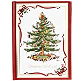 C.R. Gibson Spode Christmas Tree Christmas Card Address Book, 30 pgs, 5''W x 6.75'' H