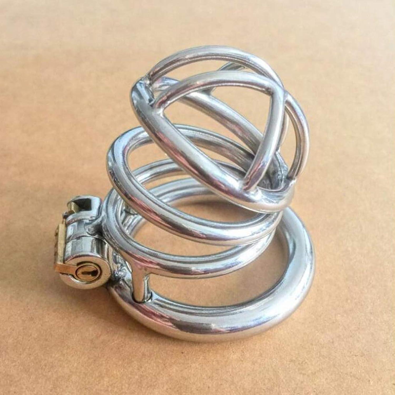 CJH Men's 304 Stainless Steel Virginity Lock Sex Device Supplies