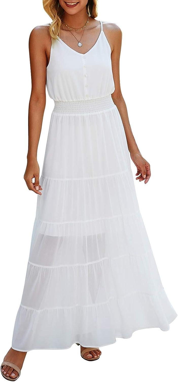 Bequemer Laden Japan Cheap mail order shopping Maker New Women's Summer Casual Sleeveless Maxi Dress