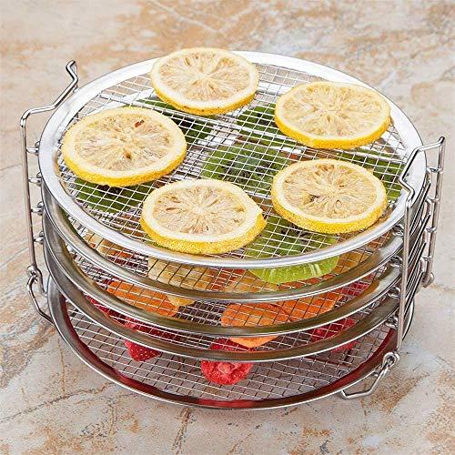 Zuoao 5-Schicht-Grill stapelbar Edelstahl Dehydratation Rack,Stainless Steel