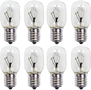 40 Watt Microwave Oven Bulb, E17 Screw-in Base 8206232A Incandescen Light Bulbs,Fits Most GE/Whirlpool/Maytag Microwave Ovens,Extra Long Life,8 Pack.