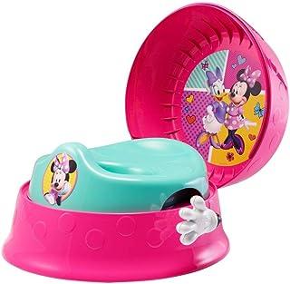 おまる 補助便座 ディズニー ミニーマウス 3-in-1 補助便座付きおまる トイレトレーニング 洋式 ステップスツール オマル