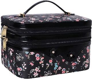 WWW Toiletry Travel Bag Makeup Bag Travel Cosmetic Bag for Women, Travel Jewelry Organizer,Portable Multifunctional Makeup...